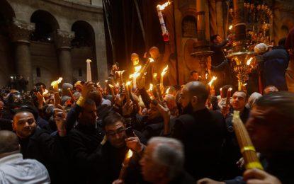 Благодатния огън тръгва от Йерусалим при засилени мерки за сигурност