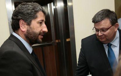Цацаров и Иванов обещаха да заровят томахавките