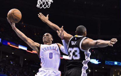 """Избрано от НБА: """"Тъндър"""" сразиха """"Спърс"""" с помощта на Уестбрук"""