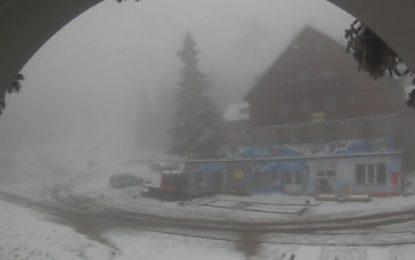 Първи сняг на Витоша и в Стара планина
