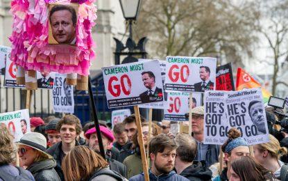 Стотици в Лондон поискаха оставката на Камерън