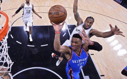 """Избрано от НБА: """"Тъндър"""" бутнаха """"Спърс"""" като гости и изравниха серията"""