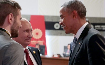 Обама и Путин размениха по две думи за Сирия и Украйна