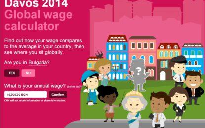 Вижте къде сте по заплата в света
