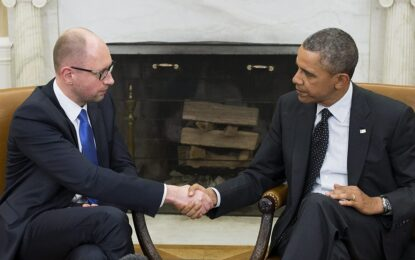 Обама обеща на Яценюк да застане зад Украйна