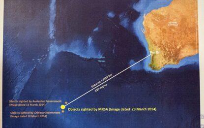 Над 120 обекта са забелязани в търсенето на полет MH370