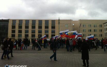 Руснаци протестират в Берлин срещу фашизма в Украйна