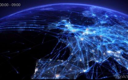 Видео ни показва всички полети над Европа за един ден