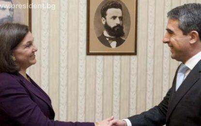 Виктория Нюланд се срещна с президента Росен Плевнелиев