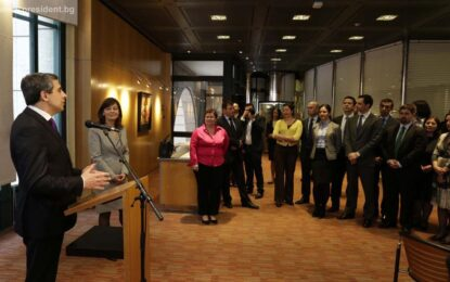 Президентът съобщи за нова стратегия на ЕБВР за България