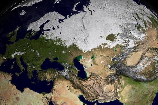 Karta 2019 Satelitna Karta Na Evropa