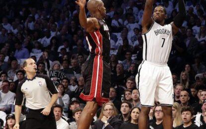 """НБА плейофи: """"Нетс"""" нокаутираха """"Хийт"""" с 15 тройки"""