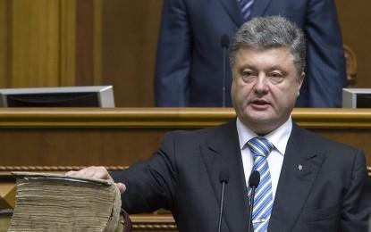 Порошенко встъпи в длъжност с обещание за мир и обединение на Украйна