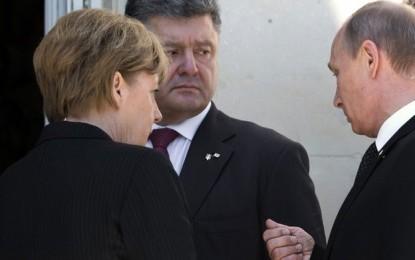 Путин и Порошенко размениха по някоя дума