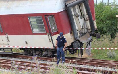 Превишена скорост причинила катастрофата на влака