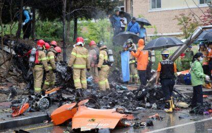 Хеликоптер се взриви в Южна Корея