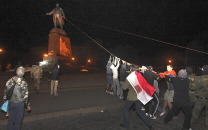 Минус още две статуи на Ленин в Украйна