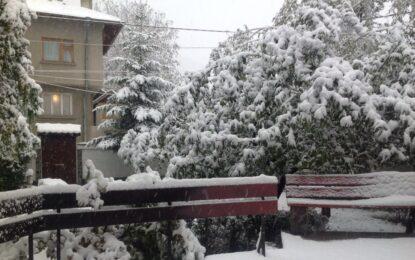 Снегът дойде с оранжев код за половин България