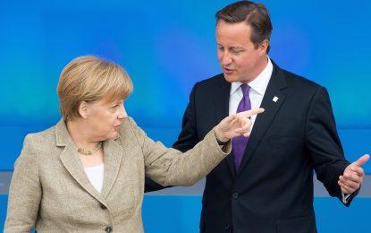 Меркел предупреди Камерън за антиевропсйката му политика