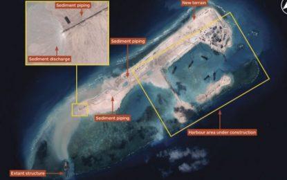 Китай строи летище-остров в спорни води