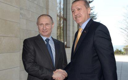 """Путин и Ердоган се договарят за търговията, газа и """"Ислямска държава"""""""