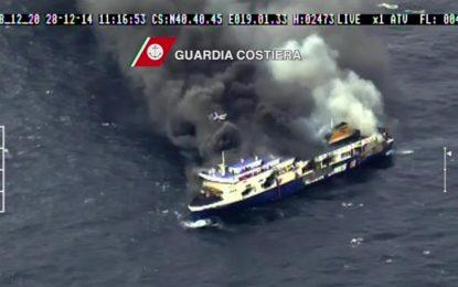 Жетвите на пламналия ферибот се оказаха 10