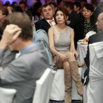 Николай Вълканов и съпругата му на срещата на Американската търговска камара