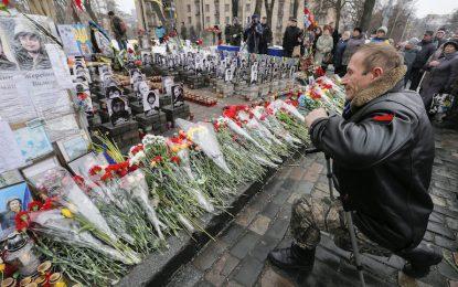 Киев чества година от Майдана, в Донбас още няма мир
