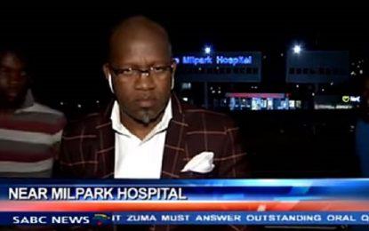 Обраха южноафрикански репортер секунди преди ефир