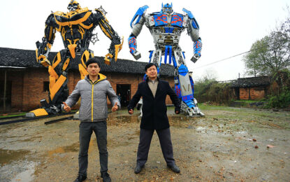 """Китайци правят истински """"Трансформърс"""" от чаркове"""