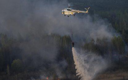 Пожарът край Чернобил не е увеличил радиацията в района
