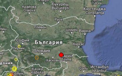 Две земетресения са регистрирани край Тополовград