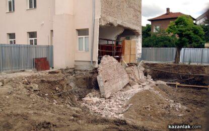 Строителство срути Математическата гимназия в Казанлък