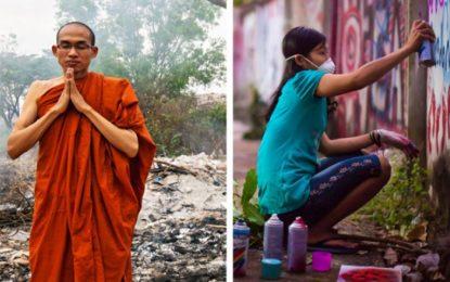 С графити и будизъм към демокрация в Мианмар