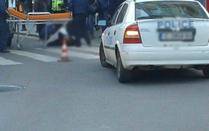 Полицай блъсна полицай на зебра пред полицейско управление