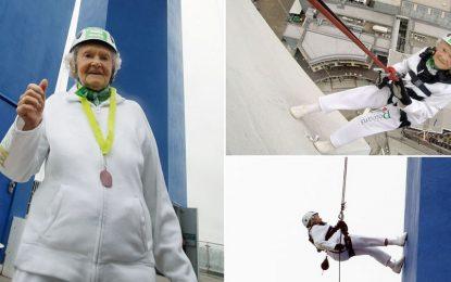 101-годишна британка счупи собствен рекорд за спускане с въже