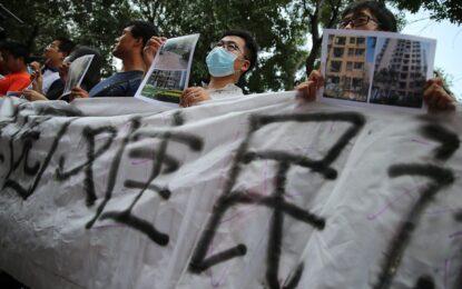 Стотици в Тиендзин протестират след експлозиите