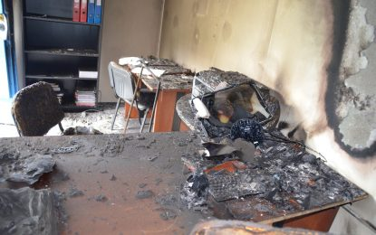 Опожарен е офис на НПО срещу банковите шашми