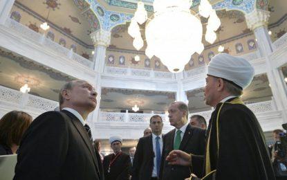 Путин, Ердоган и Махмуд Аббас откриха джамия в Москва