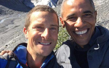 Обама участва в шоуто за оцеляване на Беър Грилс