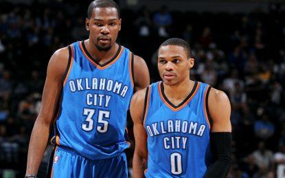 """Избрано от НБА: Дюрант и Уестбрук не оставиха шанс на резервите на """"Спърс"""""""