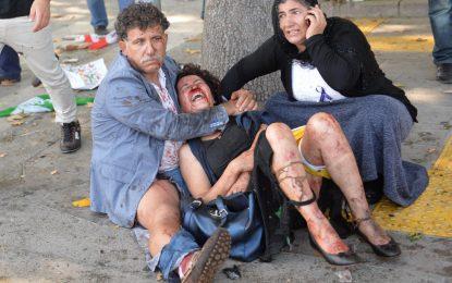 Жертвите в Анкара са почти 100 (видео от експлозията)