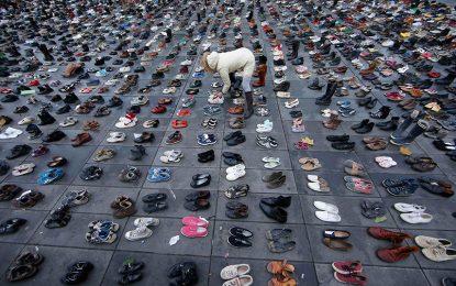 Марш на обувките срещу промените в климата