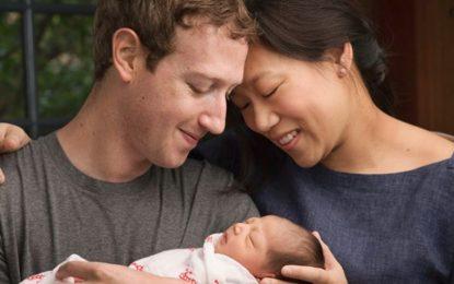 Зукърбърг стана баща и дари 99% от Facebook акциите си за деца