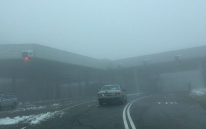 Сняг на Петрохан и Хаинбоаз, видимост под 20 метра