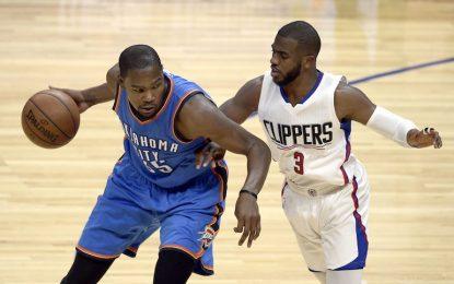 """Избрано от НБА: Дюрант срази """"Клипърс"""" с чадър и победен кош"""