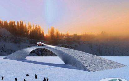 Финландци строят леден мост по проект на Да Винчи
