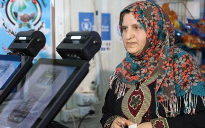 Бежанците в Йордания купуват храна само с поглед