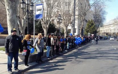 "Грузинци със 7-километрова жива верига срещу ""Газпром"""