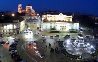 Къмпингари и полицаи протестират в София